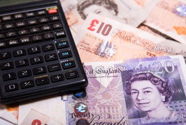 UK pound and calculator